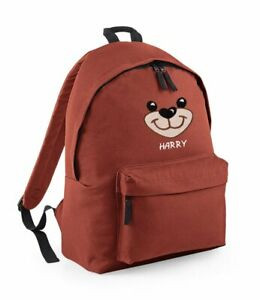 Bear face embroidered Kids/Adult fashion backpack - Personalised with Name