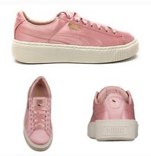PUMA Womens Shoes SZ 8 Blush Pink Satin Creepers Casual Sneakers Trainers NEW