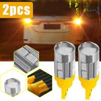2Pcs T10 158 194 168 W5W 5730 10 smd LED Car Light Bulbs Lamp Amber Yellow YNSV