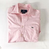 Vineyard Vines Tucker Slim Fit Button Down Shirt with pocket Pink Mens XS Extra