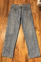 LEVIS 550 RELAXED FIT MENS DENIM JEANS SIZE 33 X 32 Distressed Destroyed Worn