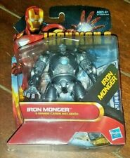 "Iron Man 2 Movie Series: IRON MONGER 4"" Action Figure with 3 Armor Cards!"