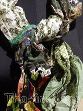 Foulard Crinckle 100% Coton Patchwork 20x145cm 50g Hippie Chic Inde 6x1