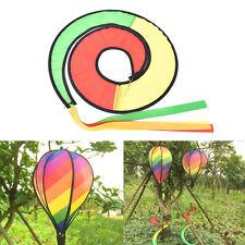 Rainbow Stripe Windsock Hot Air Balloon Wind Spinner Garden Yard Outdoor Decor @