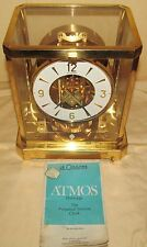 JAEGER LECOULTRE 1960'S ATMOSPHERIC ATMOS CLOCK W/ ORIGINAL MANUAL