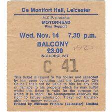 MOTORHEAD & SAXON Concert Ticket Stub LEICESTER UK 11/14/79 BOMBER TOUR Rare