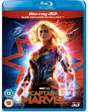 CAPTAIN MARVEL [Blu-ray 3D + 2D] UK Exclusive 3D Release Marvel Studios Avengers