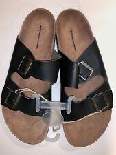 American Eagle Leather Sandals Faux Birkenstock Men's -Size 8  Black