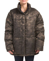 KENDALL + KYLIE  Camo Print Women's Reversible Puffer Jacket Size Large~NWT
