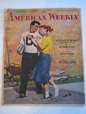 "1955 ""AMERICAN WEEKLY"" NEWSPAPER MAGAZINE - MARILYN MONROE CENTER STORY - TUB B"