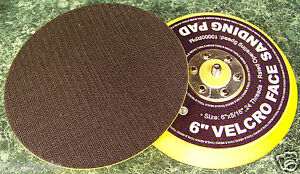 """2 Replacement 6"""" HOOK and LOOP DUAL ACTION DA SANDER PAD foam valcrow back"""