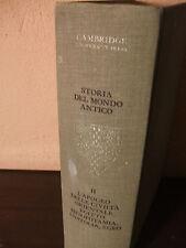 """CAMBRIDGE UNIVERSITA' LIBRO """"STORIA DEL MONDO ANTICO"""" GARZANTI COLLEZIONE"""