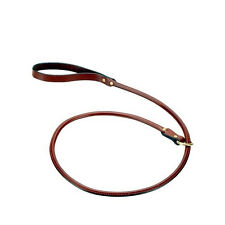 Mendota Rolled English Bridle Leather Slip Lead 4'