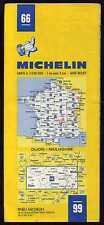 carte MICHELIN  no 66   DIJON  MULHOUSE  1985  22 éditions
