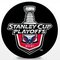 WASHINGTON CAPITALS  2021 NHL PLAYOFFS HOCKEY PUCK STANLEY CUP FINAL 1ST 2ND RND