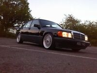 Mercedes 190e 1.8 manual black & silver lowered