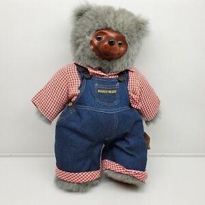 Robert Raikes Jade Bear LImited Edition 2185/7500 RARE huckle bear wood face (ec