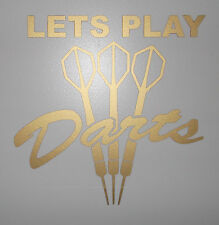 VINYL DECAL STICKER FOR CAR - LETS PLAY DARTS