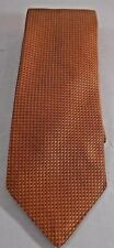 Nautica 100% Silk Tie Orange Dot Pattern VGUC