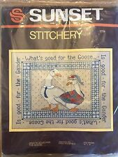 Sunset Stitchery Stitch Kit 2724 What's Good For The Goose Fits Frame 14x18