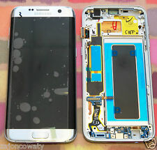 GENUINE SILVER SAMSUNG SM-G935F GALAXY S7 EDGE SCREEN AMOLED LCD FRAME DISPLAY