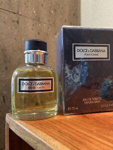 Dolce & Gabbana Pour Homme 2.5oz Men's Eau de Toilette. Made in Italy!