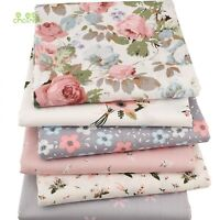 Floral Series Twill Cotton Fabric Patchwork Cloth Sewing Quilting Material