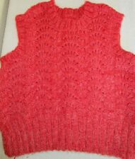 Vintage Girl's Hand Knitted Sweater Vest, approx size 8