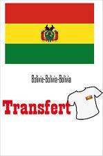3 Transferts textile clair 25x40mm drapeau Bolivie-Bolivia