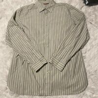 Banana Republic Mens Size XL Slim Fit Blue Striped Long Sleeve Button Down Shirt
