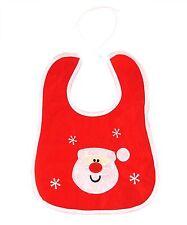 CHRISTMAS SANTA CLAUSE RED BABY KIDS FIRST XMAS BIB DINNER CHRISTENING GIFT