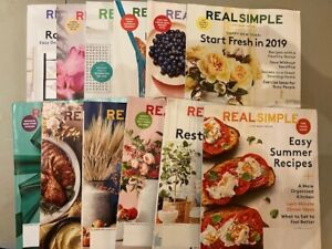 Lot of 12 Real Simple magazines - 2018