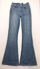 G268 NWT Mudd HIGH RISE FLARE Boho Super Stretch Jeans Tag sz 5 (Mea 24x32)