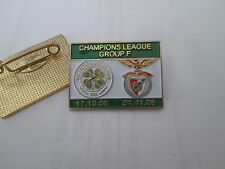 a1 BENFICA - CELTIC cup uefa champions league 2007 spilla football calcio pins