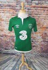 NWT $90 Umbro Men 2016 Green REPUBLIC OF IRELAND LFC Away Soccer Futbol Jersey S