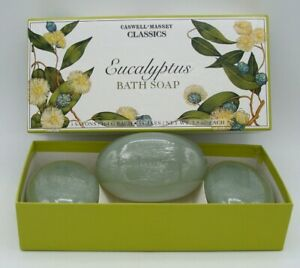Caswell Massey Classics Bath Bar Soap 3 Cakes, Eucalyptus 3 x 5.8 oz.