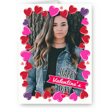 Personalised Photo Added Happy Valentines Day Multi Heart Themed A5 Card