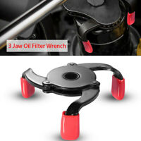 1PC Oil Filter Cap Wrench 2 Ways Low-Profile 3 Jaws Adjustable Spanner Remover.