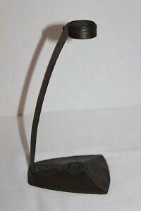 """Vintage~ROYCROFT~Hammered Copper?~Bud Vase STAND~7 1/4"""" High~MARKED~No Vase"""