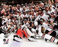 "Chicago Blackhawks 2013 Stanley Cup Team Celebration on Ice Photo (8"" x 10"")"