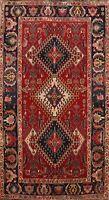 Antique Geometric Tribal Area Rug Handmade Wool Oriental Traditional Carpet 4x6