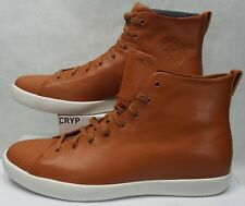New Mens 16 Converse All Star Modern Hi Brown White Leather 156587C $140