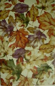 Assorted Sizes Vinyl / Flannel Backed Tablecloth Fall Leaves Multi-color Elrene