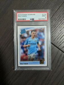 2018 Donruss Phil Foden RC Rated Rookie #179 PSA 9 MINT!!! 🔥💎 NOT OPTIC! QTY!