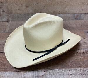 Resistol Self Conforming Western Cowboy Hat Shantung Panama natural  Size 6 3/4