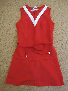 Robe Vitos Made in France Paris Vintage rouge Femme Années 80 Ancien dress - 1