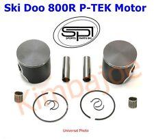 Ski Doo 800R P-TEK Motor 82 mm STD Bore SPI Pistons & Wrist Pin Bearings