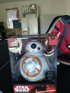 """Disney Store BB-8 Droid 9 1/2"""" Star Wars The Force Awakens 17 Sound Effects *New"""