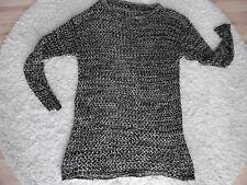 Damen Netzpulli Pullover Gr.XL Schwarz/Beige