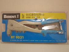 BERENT HAND RIVET GUN with 4 INTERCHANGABLE HEADS.